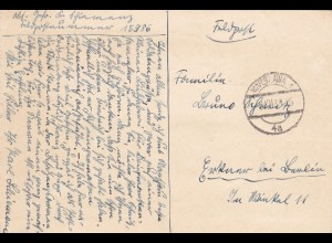 GG: Gedenkarte G1, langes f, versandt am 06.12.39 aus Warschau