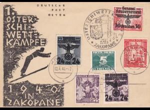 GG: Gedenkarte G2, weitere Marken und Stempel, Krakau
