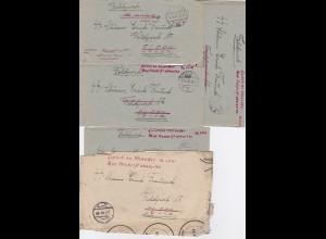 FP Kartenbriefe des Postschutz Sturmmannes (Feldpost Nr. 56552) Erich Freund