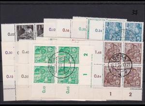 DDR MiNr. 405-22 Eckrand Viererblock mit Druckvermerk