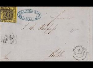 Baden: Brief 1859, mit Text von Heidelberg nach Kehl, MiNr. 3b