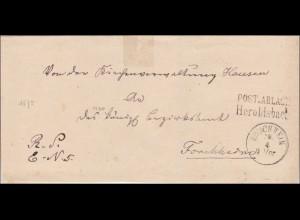 Bayern: Brief von 1875 von Heroldsbach nach Forchheim - Postablagestempel