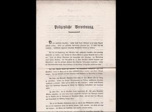 Bayern: 1814: Hilpoltstein: Polizeiliche Verordnung