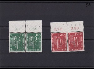 BRD MiNr. 217-18 im Paar mit kompletter Bogenlaufnummer