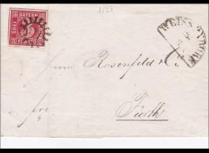 Bayern: 1864, Brief nach Fürth