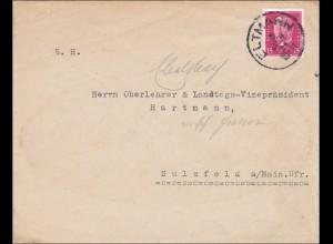 Bayern: 1931: Brief Eltmann nach Sulzfeld an Landtags-Vize-Präsident
