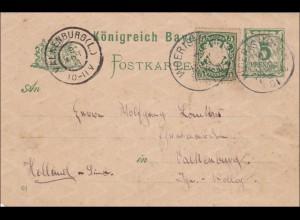 Bayern: 1901: Ganzsache von Wörishofen nach Valkenburg