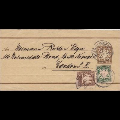 Bayern: 1896: Streifband von Nördlingen