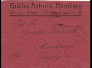 Bayern: Brief 1923 von München nach Nürnberg