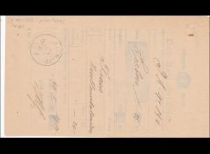 Bayern: Postaufgabeschein 1900 Altripp