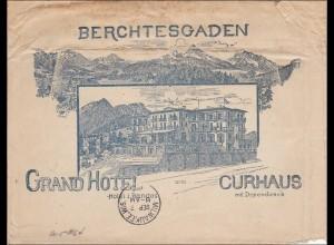 Bayern: Brief vom Granhotel Berchtesgaden nach USA