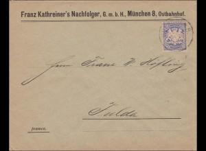 Bayern: 1899: München Ostbahnhof nach Fulda