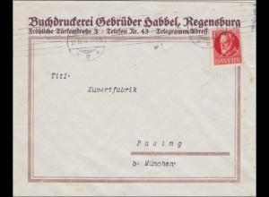 Bayern: 1916: Brief von Regensburg nach Pasing