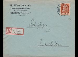 Bayern: 1919: Postauftrag Nürnberg -Kaiserslautern, Bleisoldatenfabrik