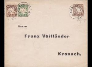 Bayern: 1893, Ortsbrief Kronach