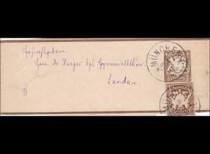 Bayern: 1899: Streifband von München nach Landau