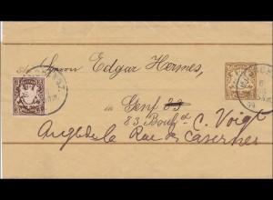 Bayern: 1899: Streifband nach Genf