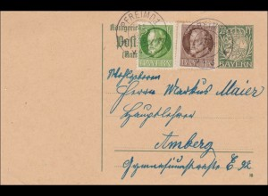 Bayern: 1920 von Pfreimd nach Amberg