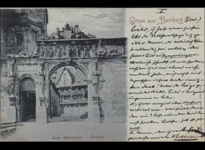 Bayern: 1898, Postkarte von Bamberg nach Regensburg