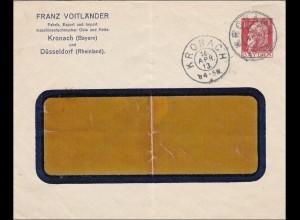 Bayern: 1913, Fensterbrief aus Kronach