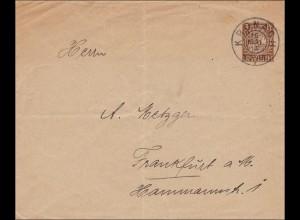 Bayern: 1913, Brief von Kronach nach Frankfurt