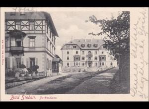Bayern: 1906, Postkarte aus Bad Steben nach Helgoland