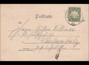 Bayern: 1899, Postkarte von Neunhof nach Laufenholz