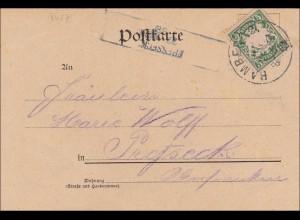 Bayern: 1898, Postkarte aus Bamberg - Fresseck