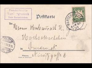 Bayern:899, Postkarte von Vordergraseck/Grasek