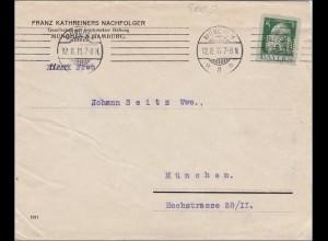 Bayern: 1911, Ortsbrief München