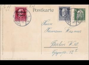 Bayern: Ganzsache Regensburg - Berlin 1919
