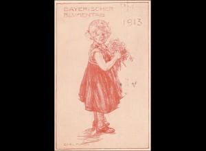Bayern: Ganzsache Bayrischer Blumentag 1913
