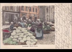 Bayern: Ansichtskarte: Bamberger Markt-Typen