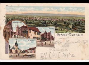 Bayern: Ansichtskarte: Gruss aus Gross - Ostheim