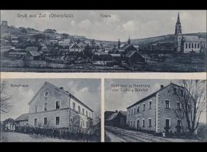 Bayern: Ansichtskarte: Gruss aus Zell Oberpfalz