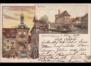 Bayern: Eine Ansichtskarte aus Bamberg