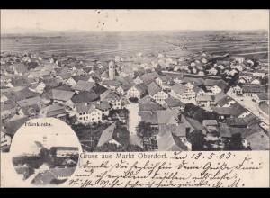 Bayern: Ansichtskarte: Gruss aus Markt Oberdorf