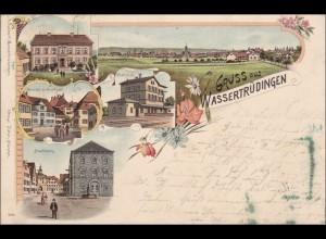 Bayern: Gruss aus Wassertrüdingen, schöne Ansichtskarte