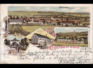 Bayern: Ansichtskarte: Gruss aus Conradsreuth