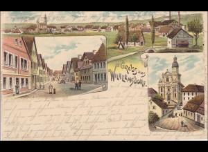 Bayern: Ansichtskarte: Gruss aus Wilhermsdorf