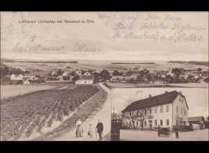 Bayern: Ansichtskarte: Lichtenau bei Neustadt