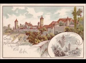 Bayern: Ansichtskarte: Gruss aus Rothenburg ob der Tauber