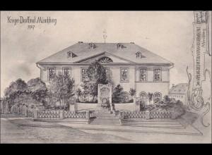 Bayern: Ansichtskarte: Krieger Denkmal Münchberg