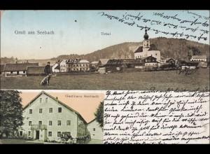 Bayern: Ansichtskarte: Gruß aus Seebach