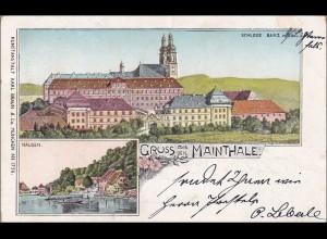 Bayern: Ansichtskarte: Gruss aus Mainthale