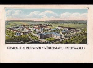 Bayern: Ansichtskarte: Klostergut M. Bildhausen bei Münnerstadt Unterfranken