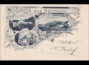 Bayern: Ansichtskarte: Heilbrunn - Gruss aus