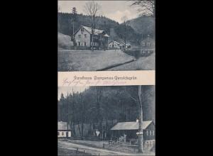 Bayern: Ansichtskarte: Forsthaus Langenau-Geroldsgrün