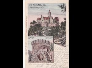 Bayern: Ansichtskarte: Altenburg bei Bamberg