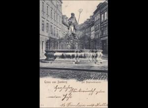 Bayern Ansichtskarte: alte Karte aus Bamberg